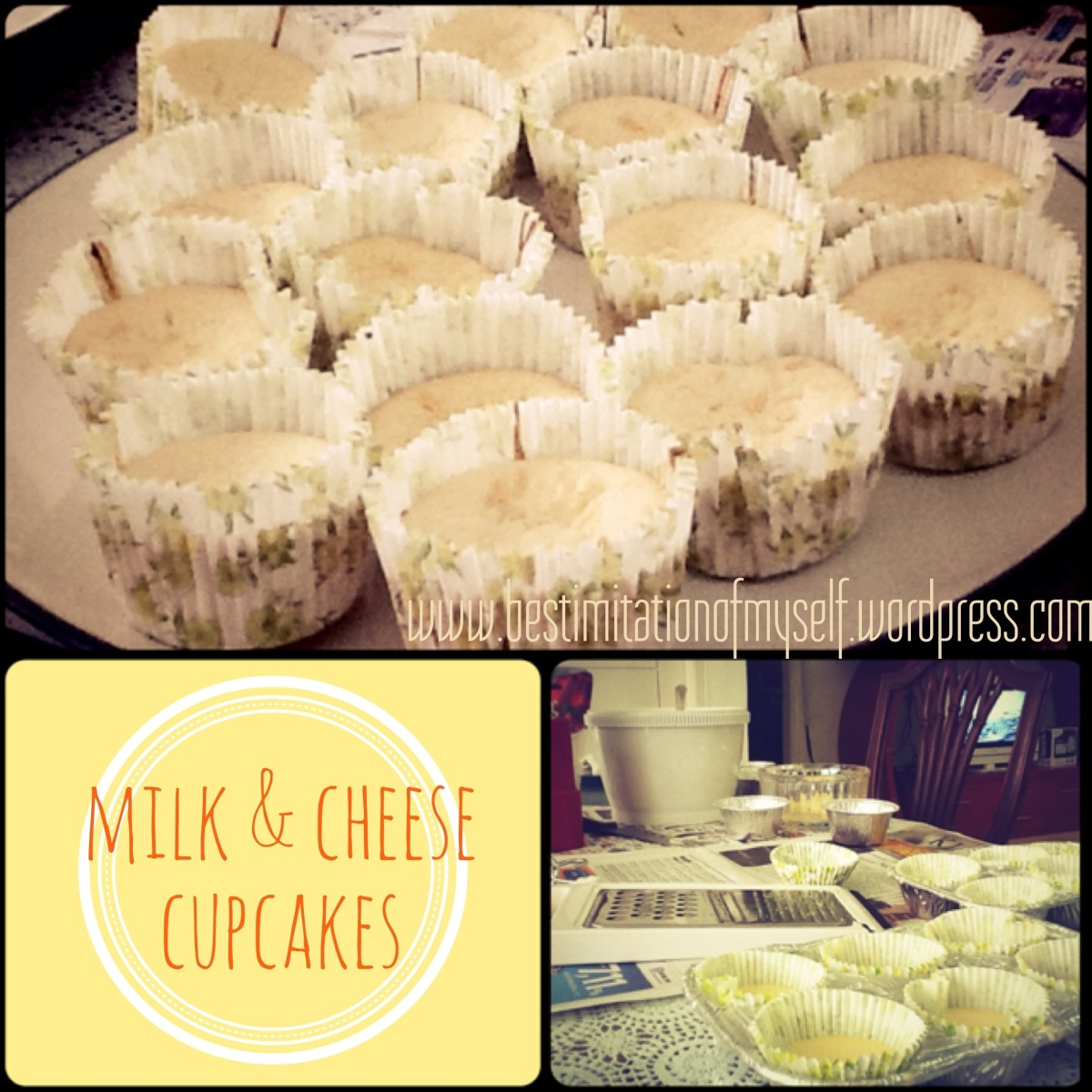 (LatePost) Milk & Cheese Cupcakes